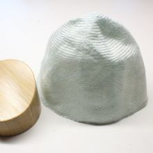 Large Pale Mint Ramie Straw Milliner's Cone